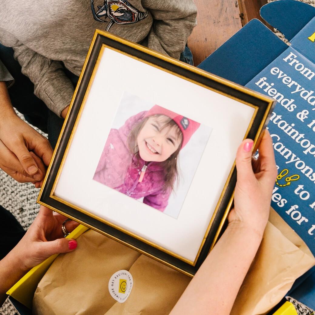 Child in photo frame